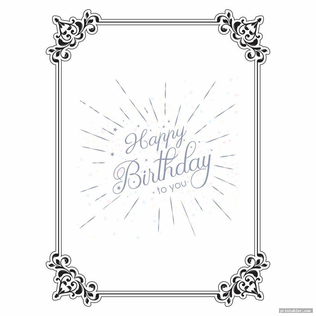 simple printable happy birthday borders