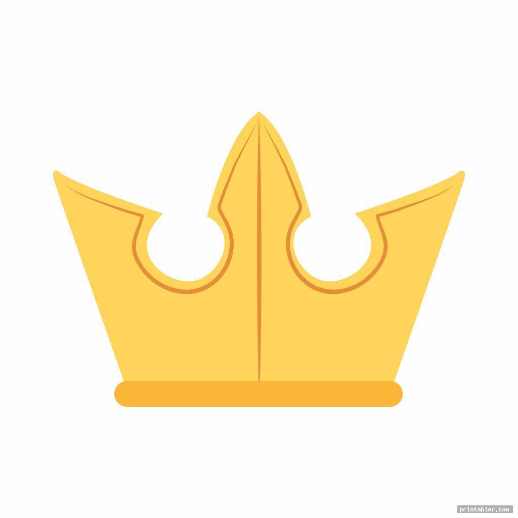 simple printable king crown template