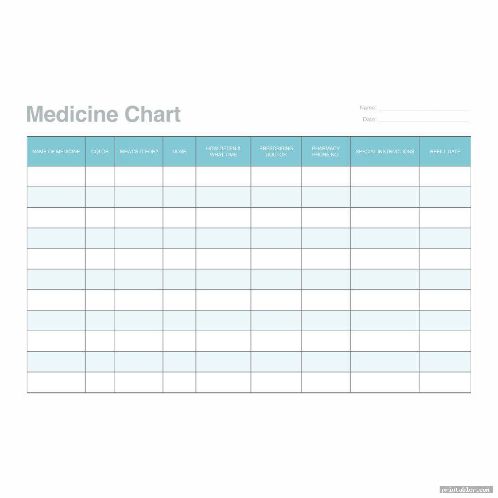 simple printable medication schedule