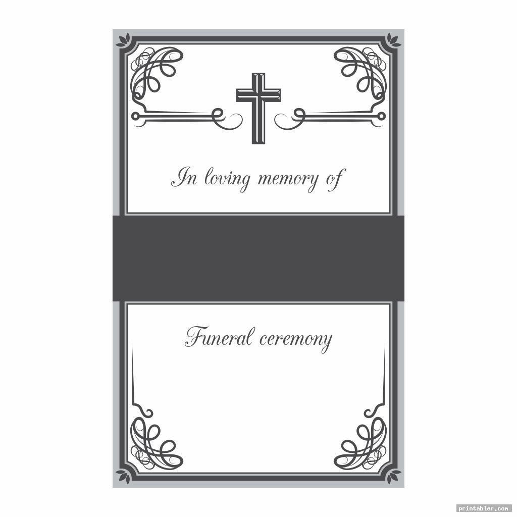 simple printable memorial prayer cards