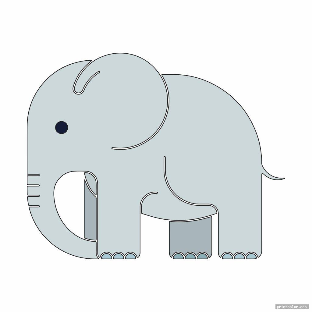simple printable nursery and baby elephant