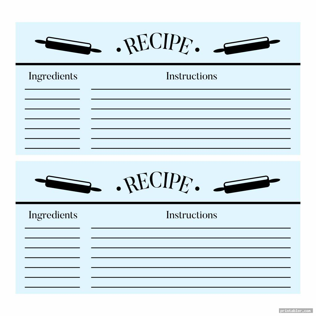 simple printable recipe cards to type on