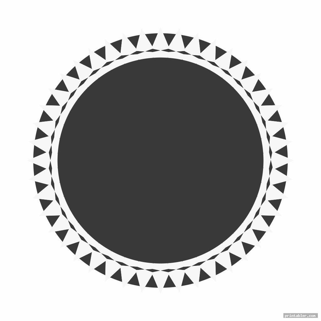 simple printable round labels