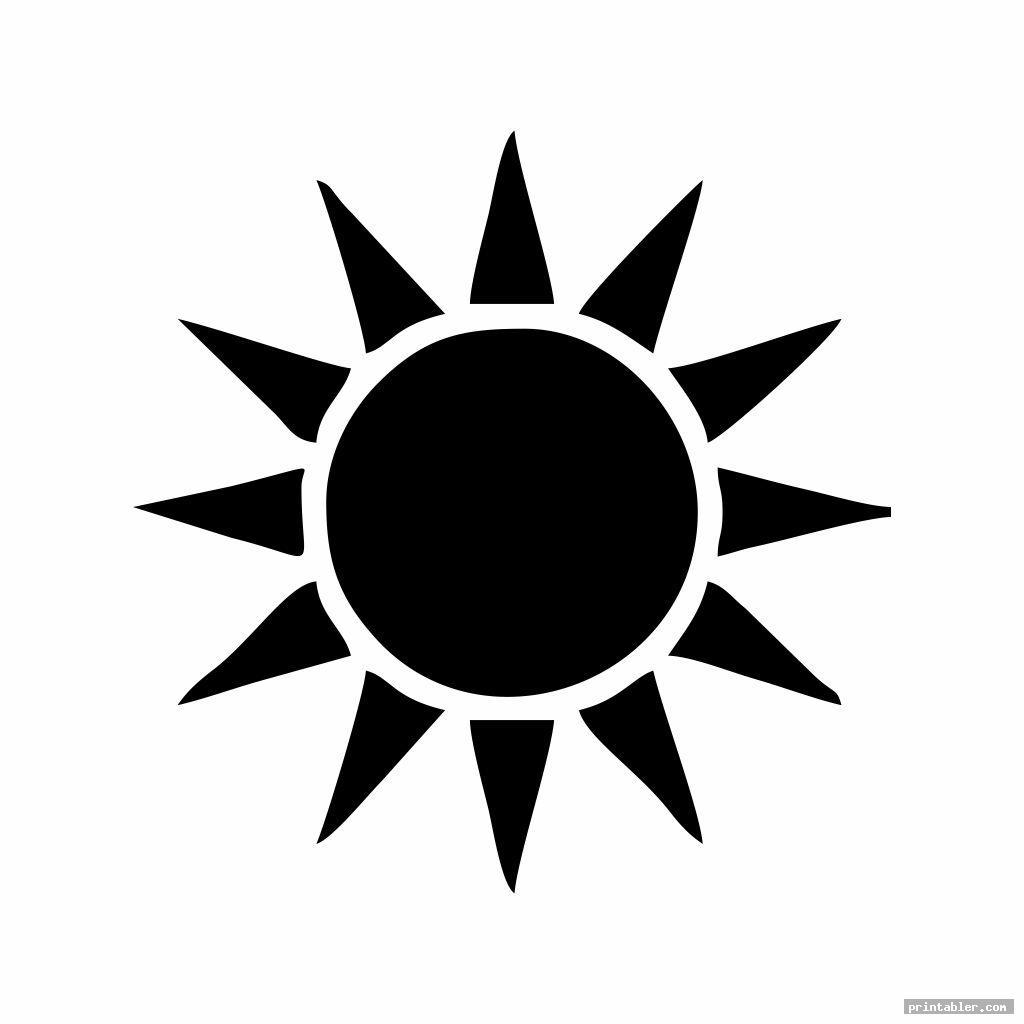 simple printable sun patterns