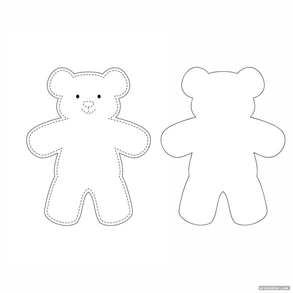 simple printable teddy bear sewing pattern