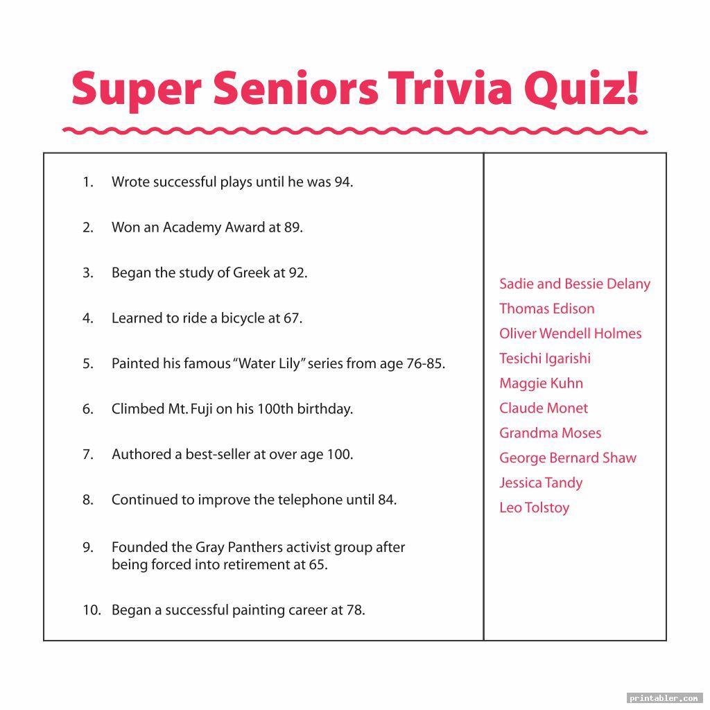 simple printable trivia for seniors