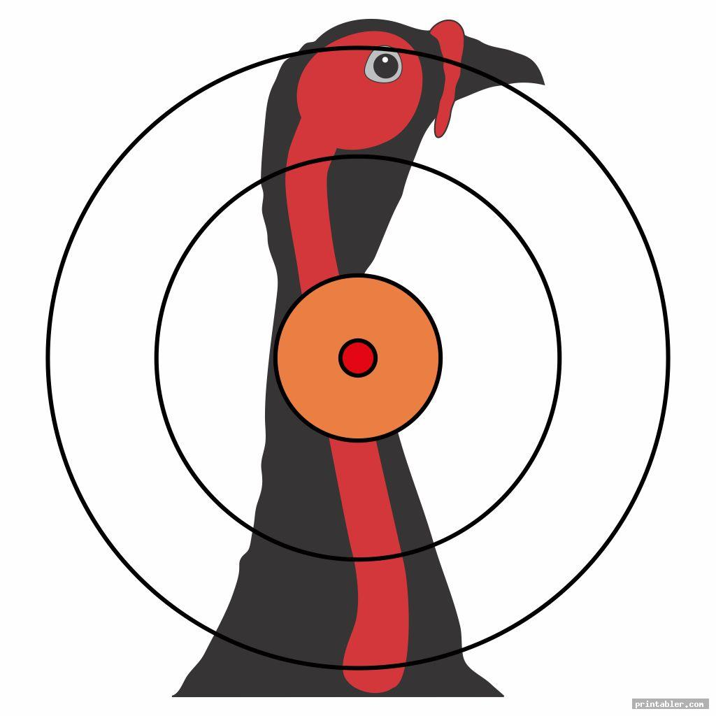 simple printable turkey target real size