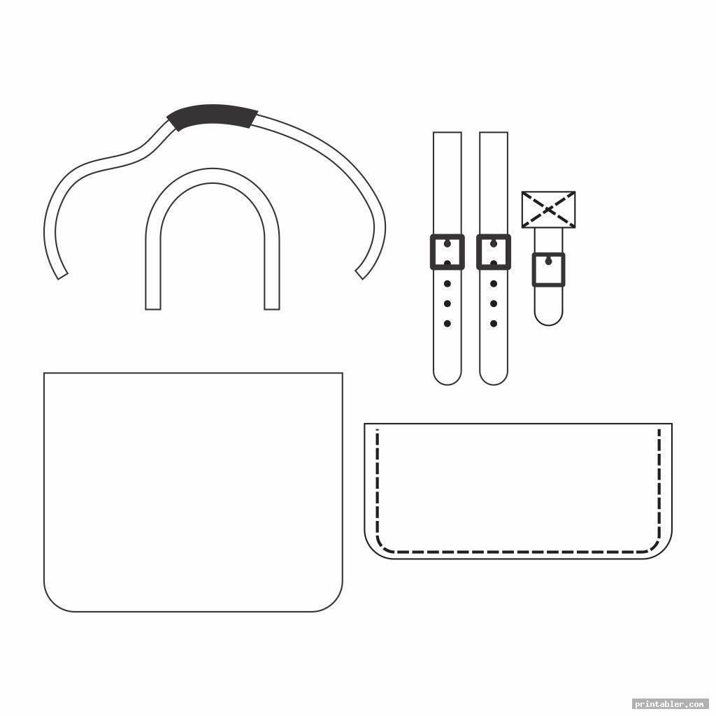 simple printable walker bag pattern