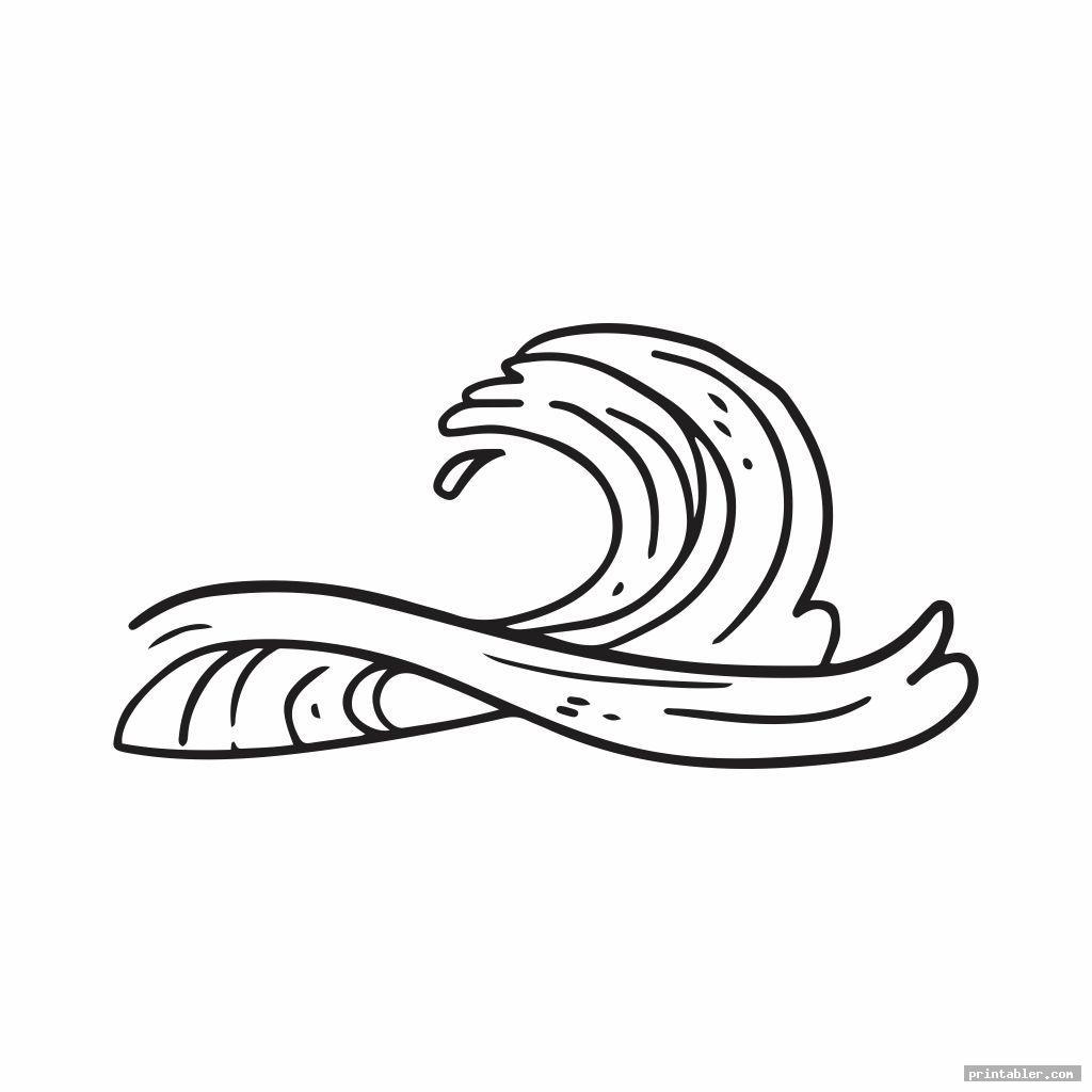 simple printable wave stencil