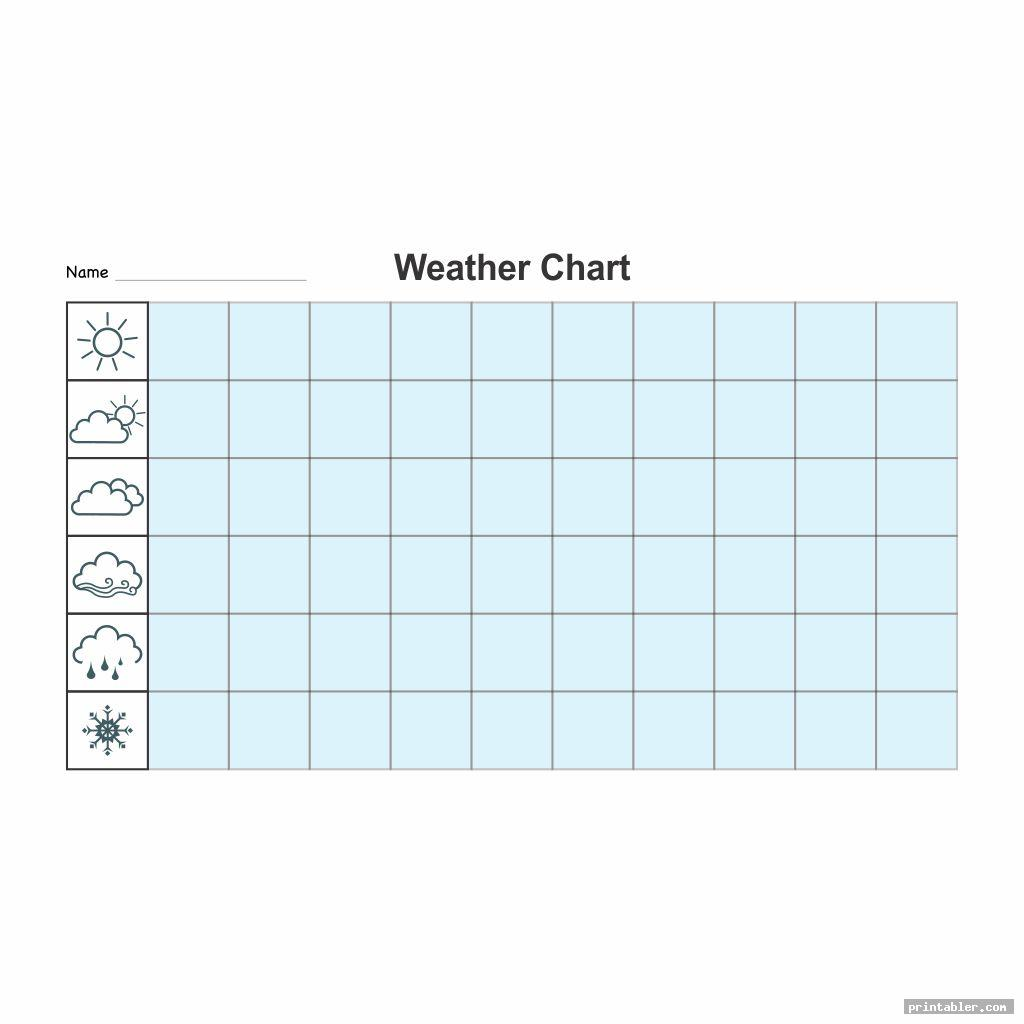 simple printable weather chart for kindergarten