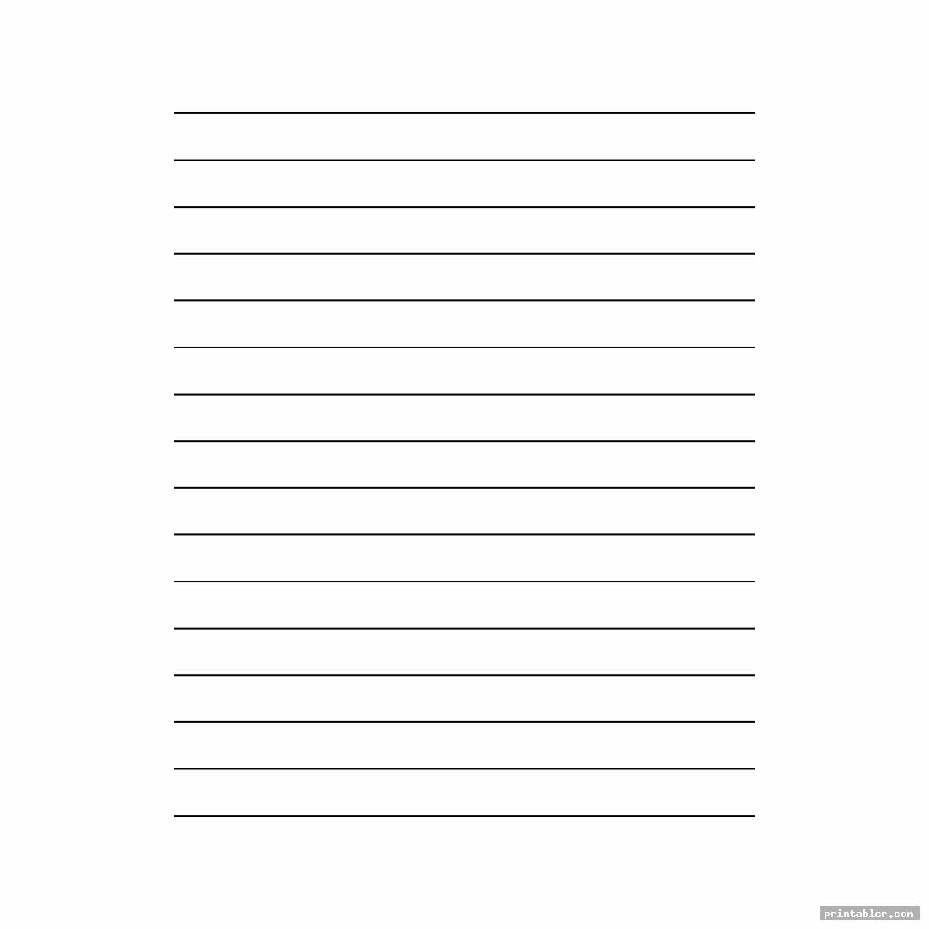 simple printable wide ruled paper