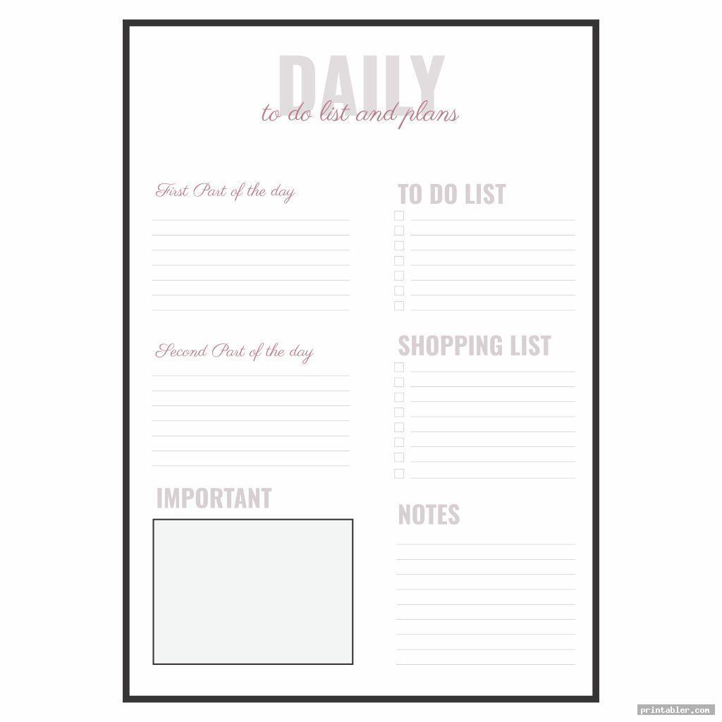 simple to do list printable editable template