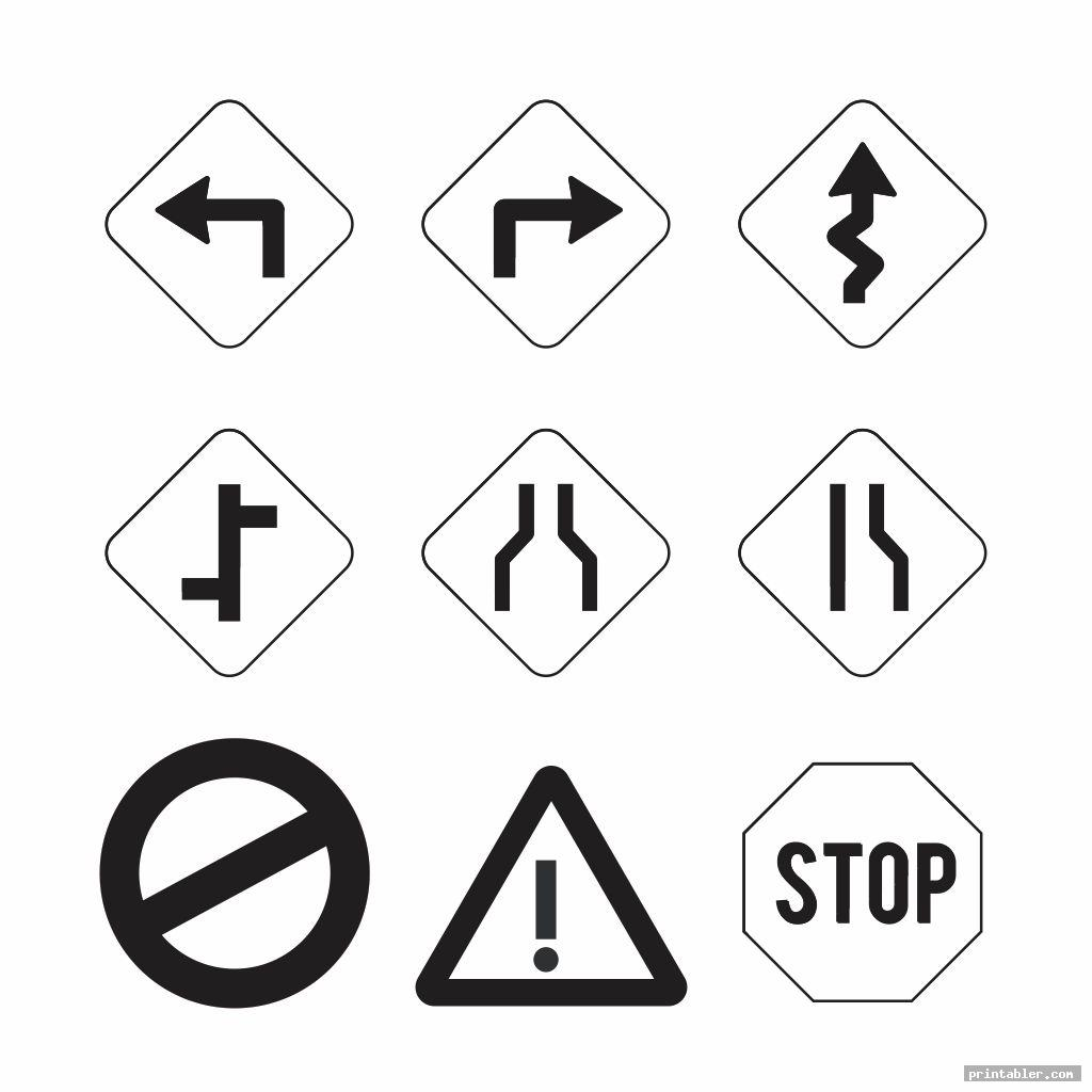 simple traffic sign printables for preschoolers