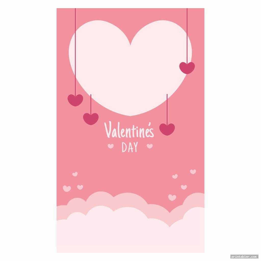 simple valentine flyer template printable