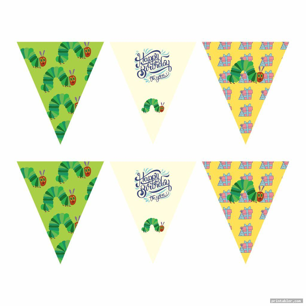 simple very hungry caterpillar birthday printables