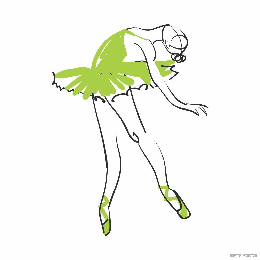 sketch printable ballerina templates