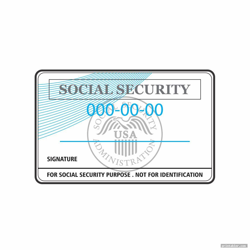 social security cards printable image free