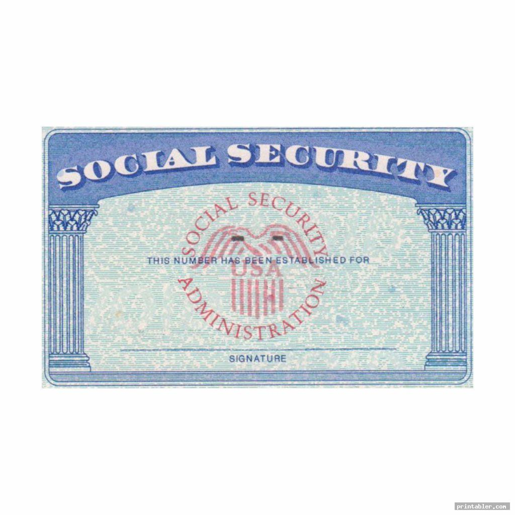 social security cards printable template for use