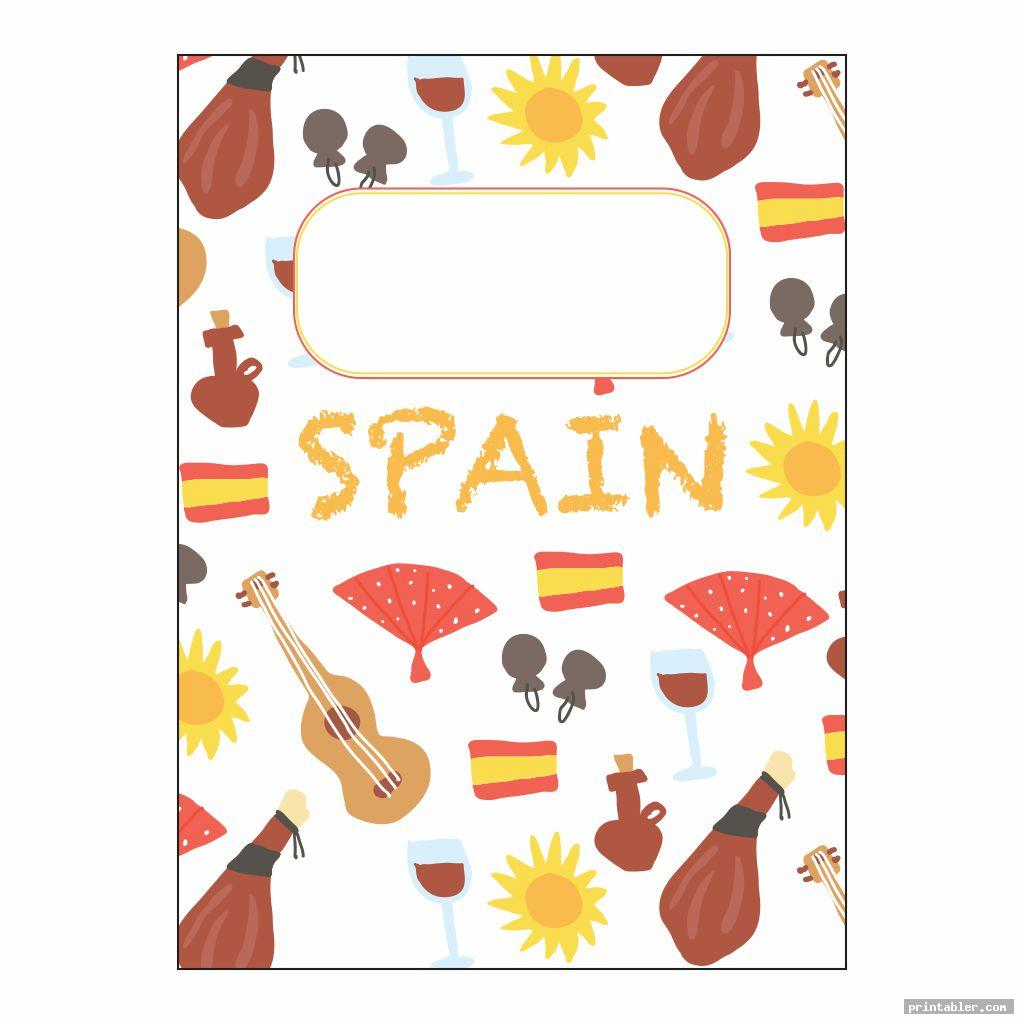 spanish printable binder covers for boys image free