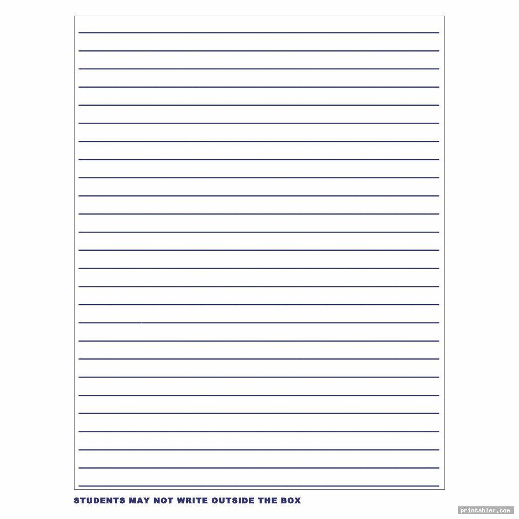 Star Lined Writing Paper Printable