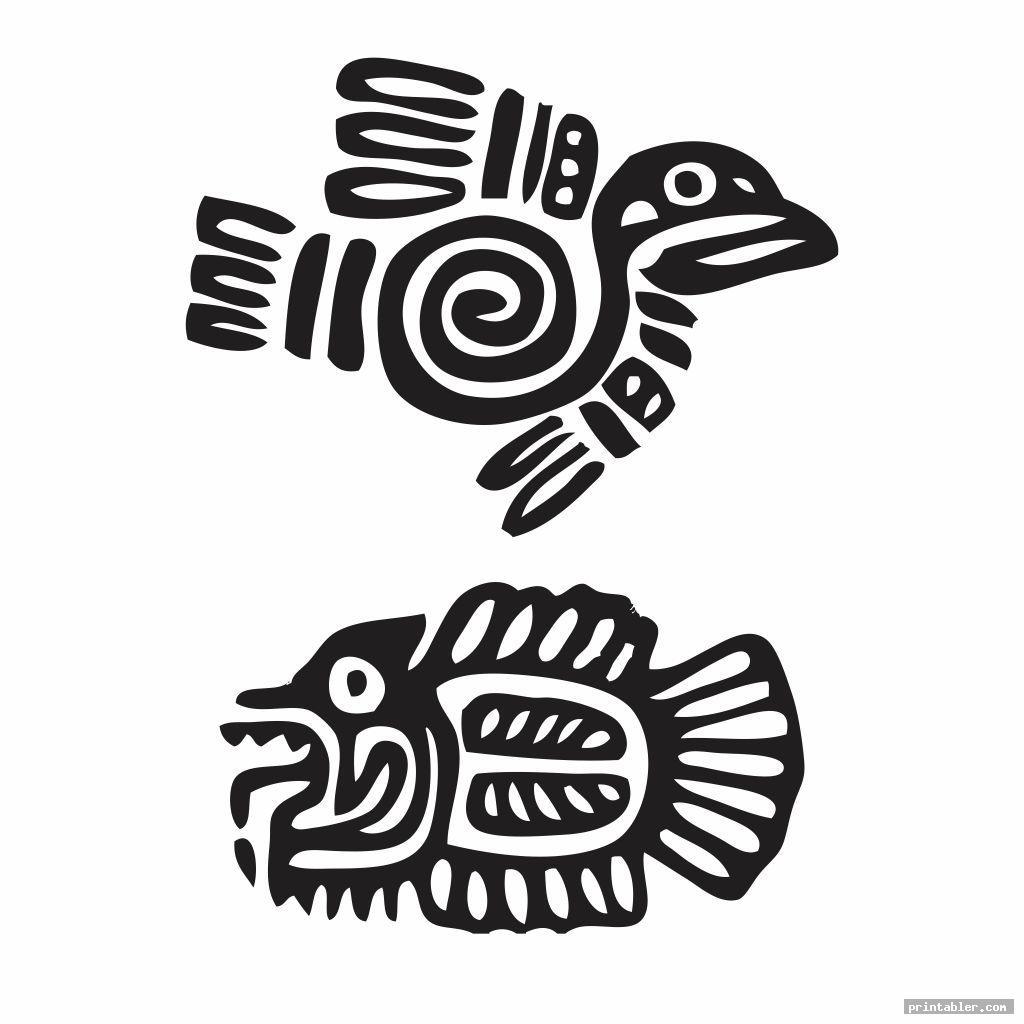 strange primitive embroidery patterns printable