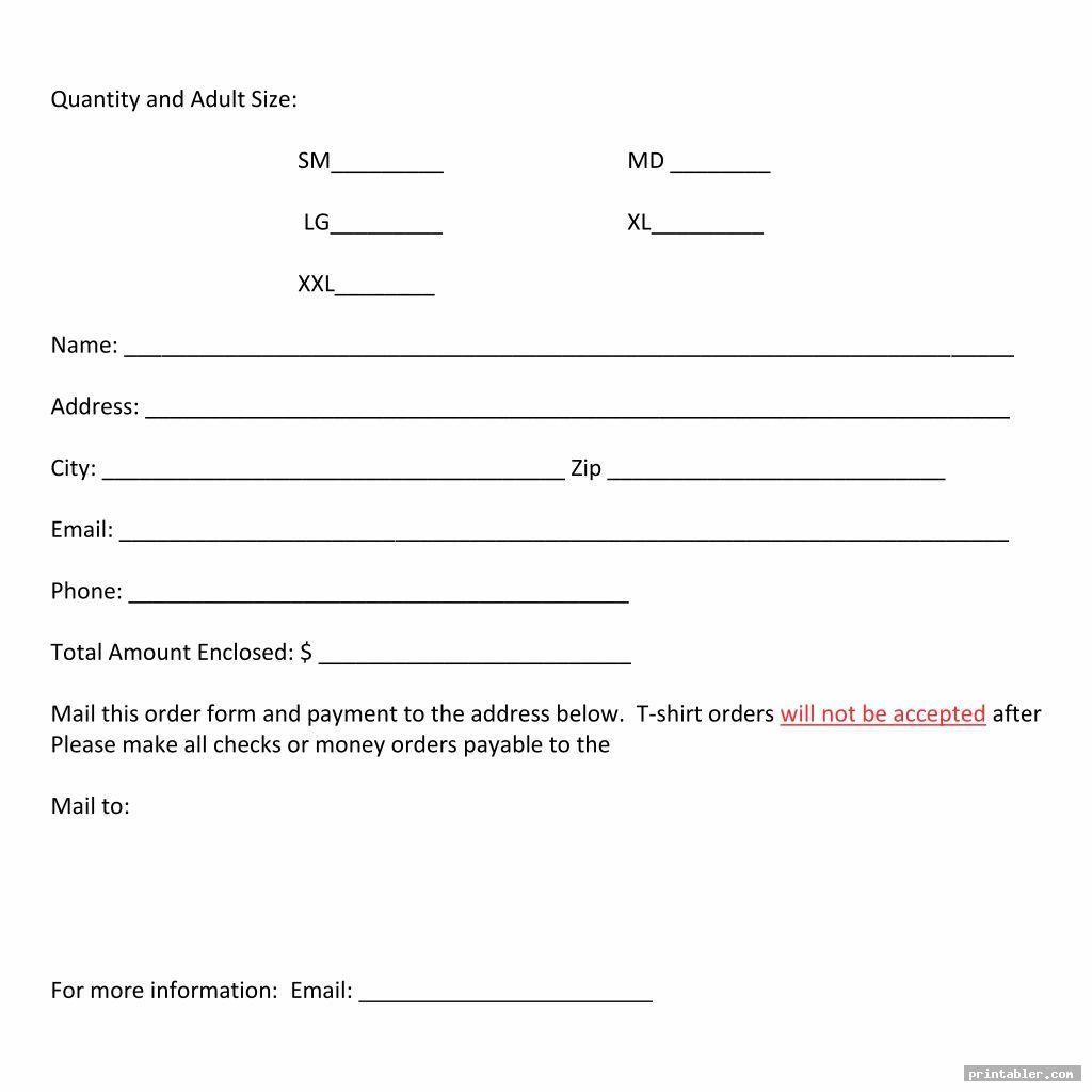 t shirt printable fundraiser forms