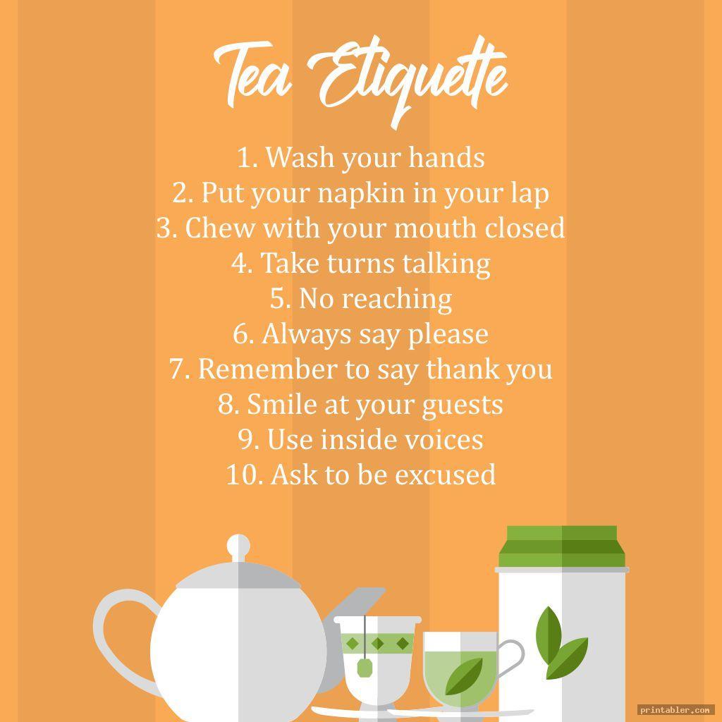 Tea Etiquette Printable