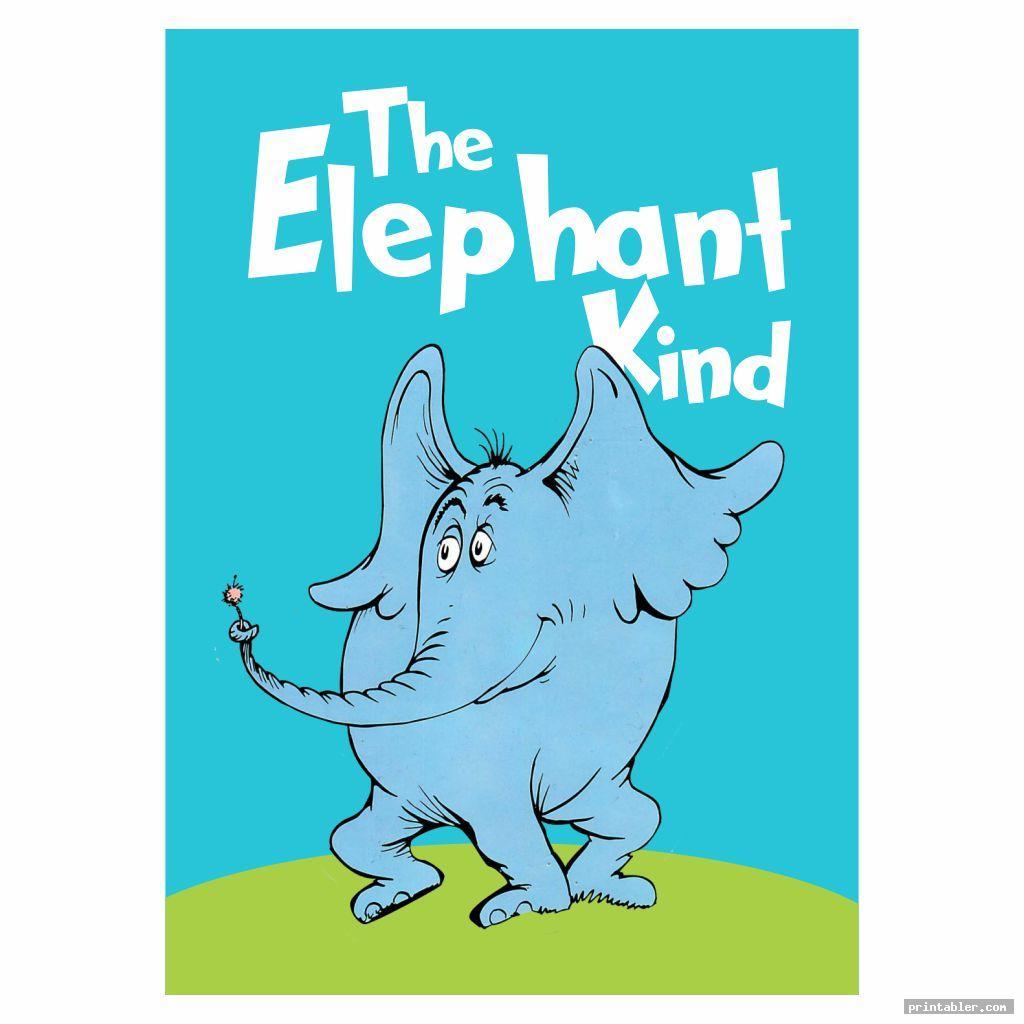 the elephant kind dr seuss book covers printables
