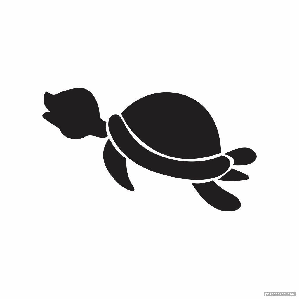 turtle template printable image free