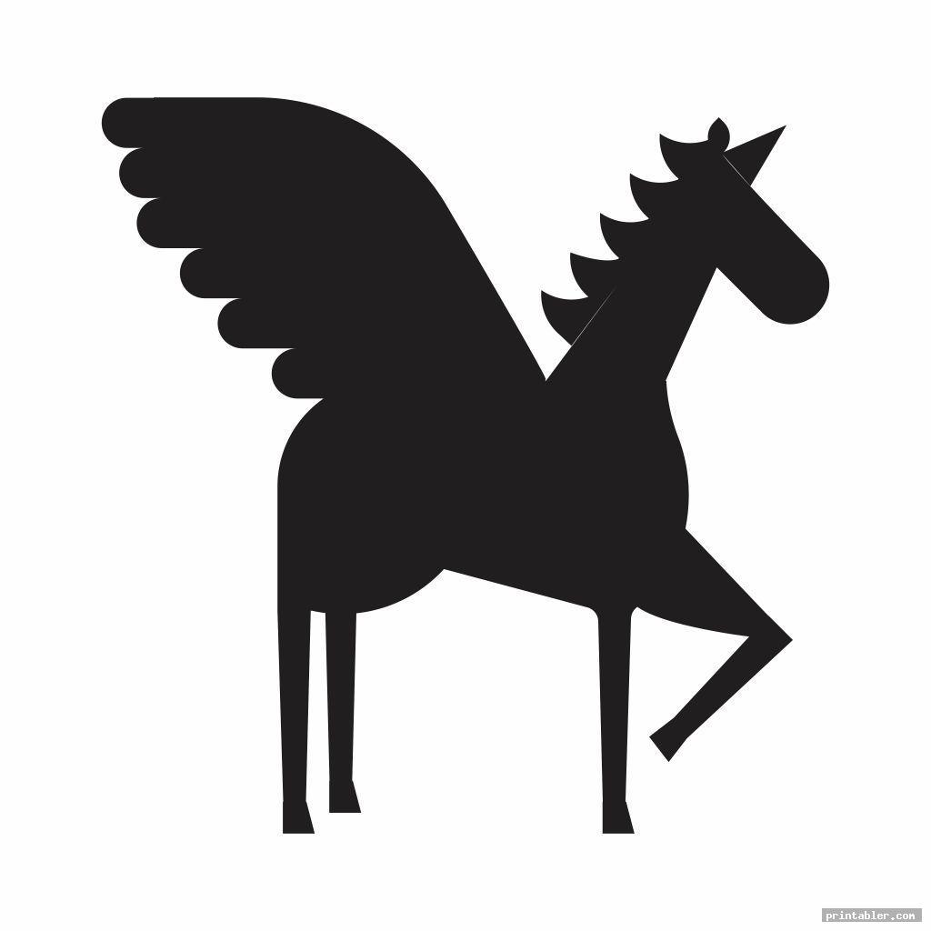 unicorn stencils printable image free