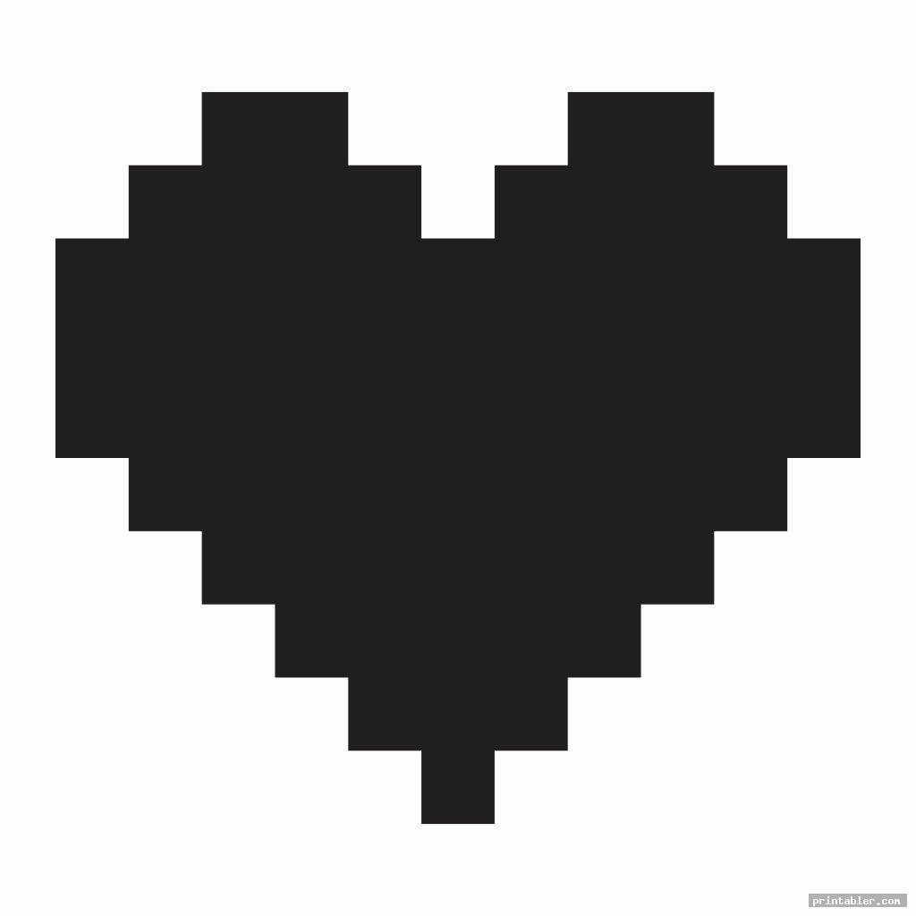 unique 3 inch heart template printable