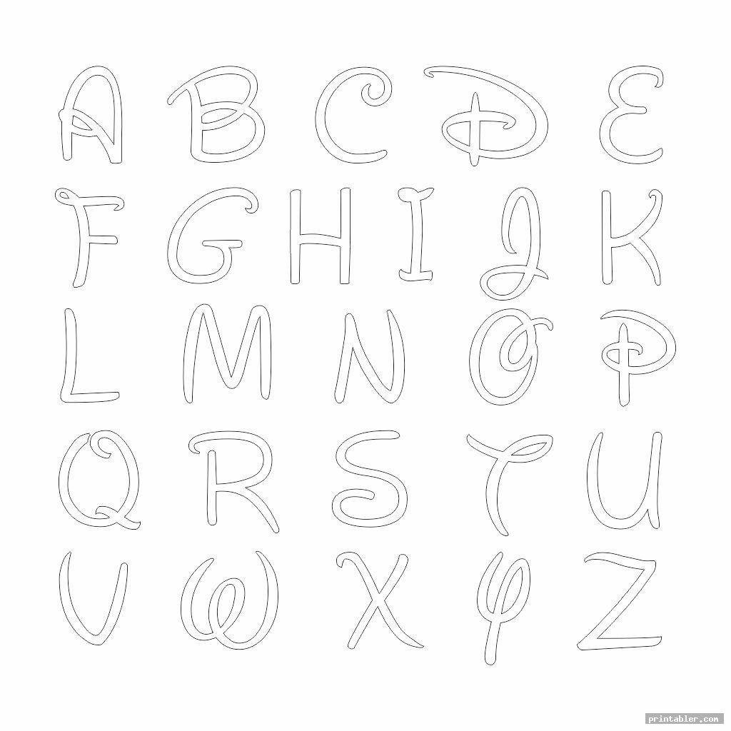 uppercase printable bubble letters disney style