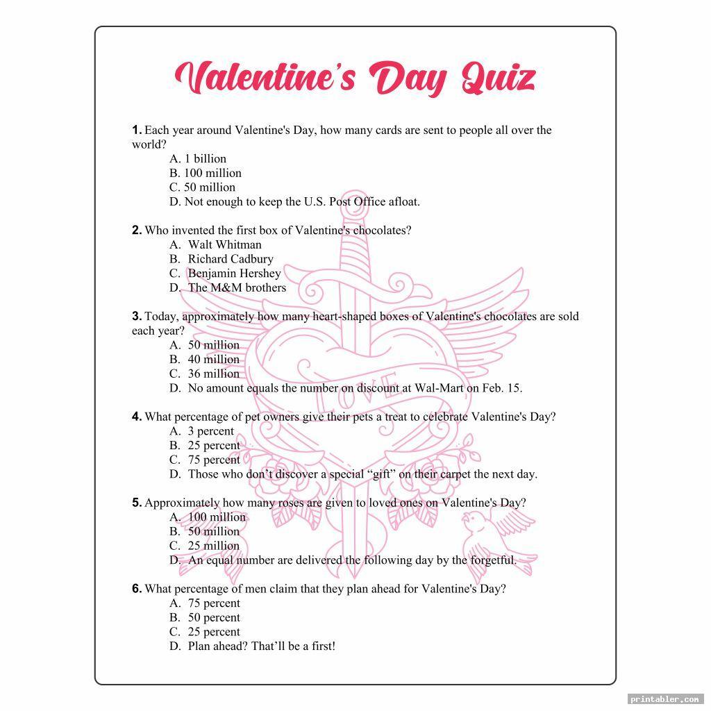 valentine s day printable puzzles quiz