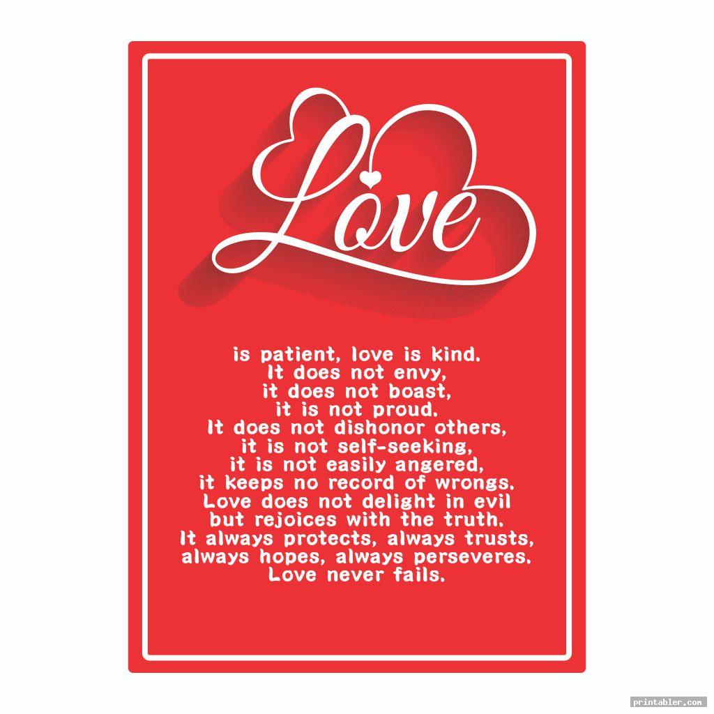 vintage 1 corinthians 13 printable poem