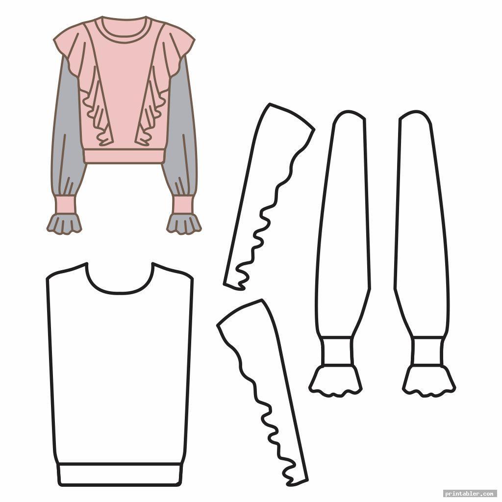 vintage dress printable doll clothes crochet pattern