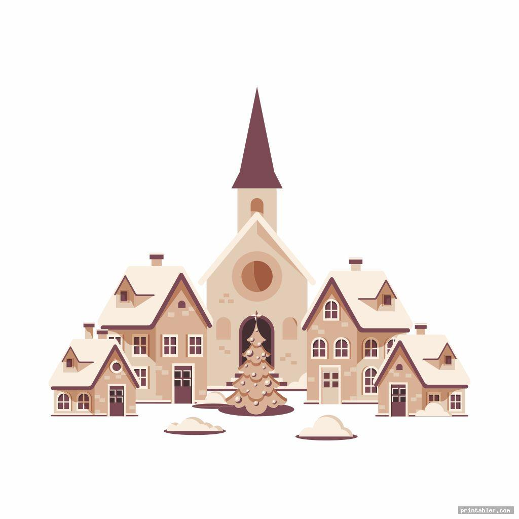 Printable Christmas Village Houses
