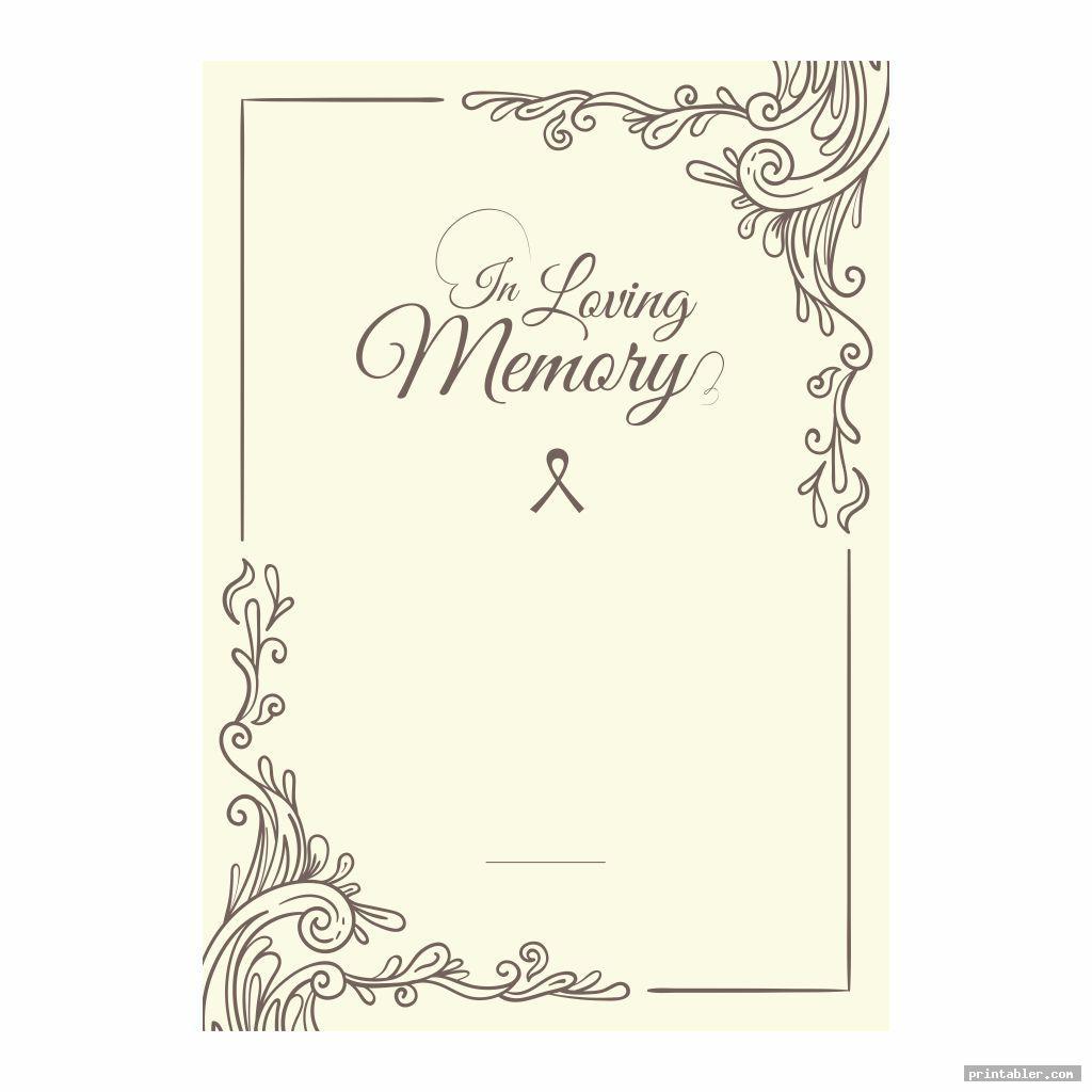 vintage printable memorial prayer cards