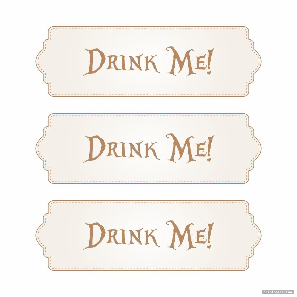 vintage printable tags alice in wonderland drink me