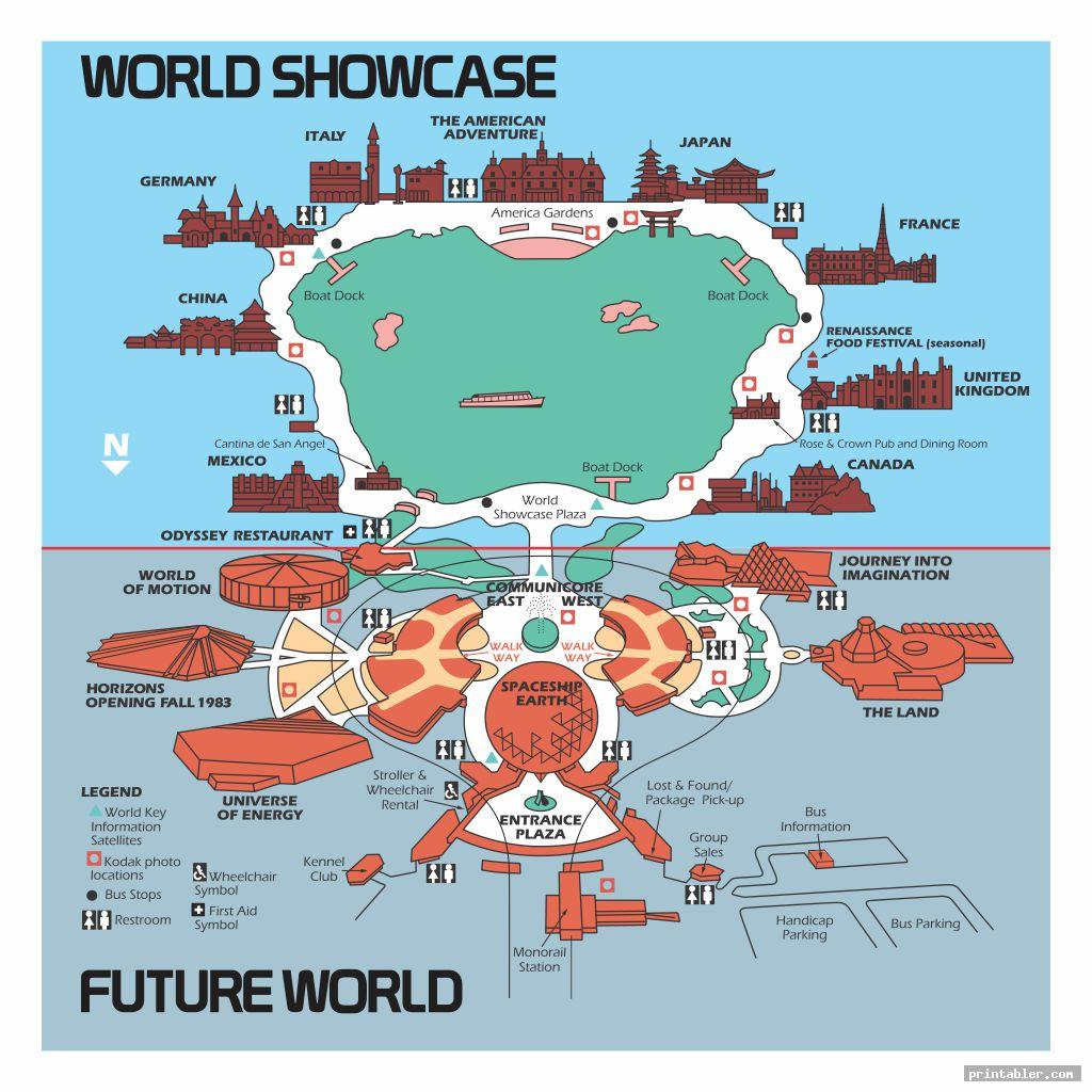 Walt Disney World Map Printable