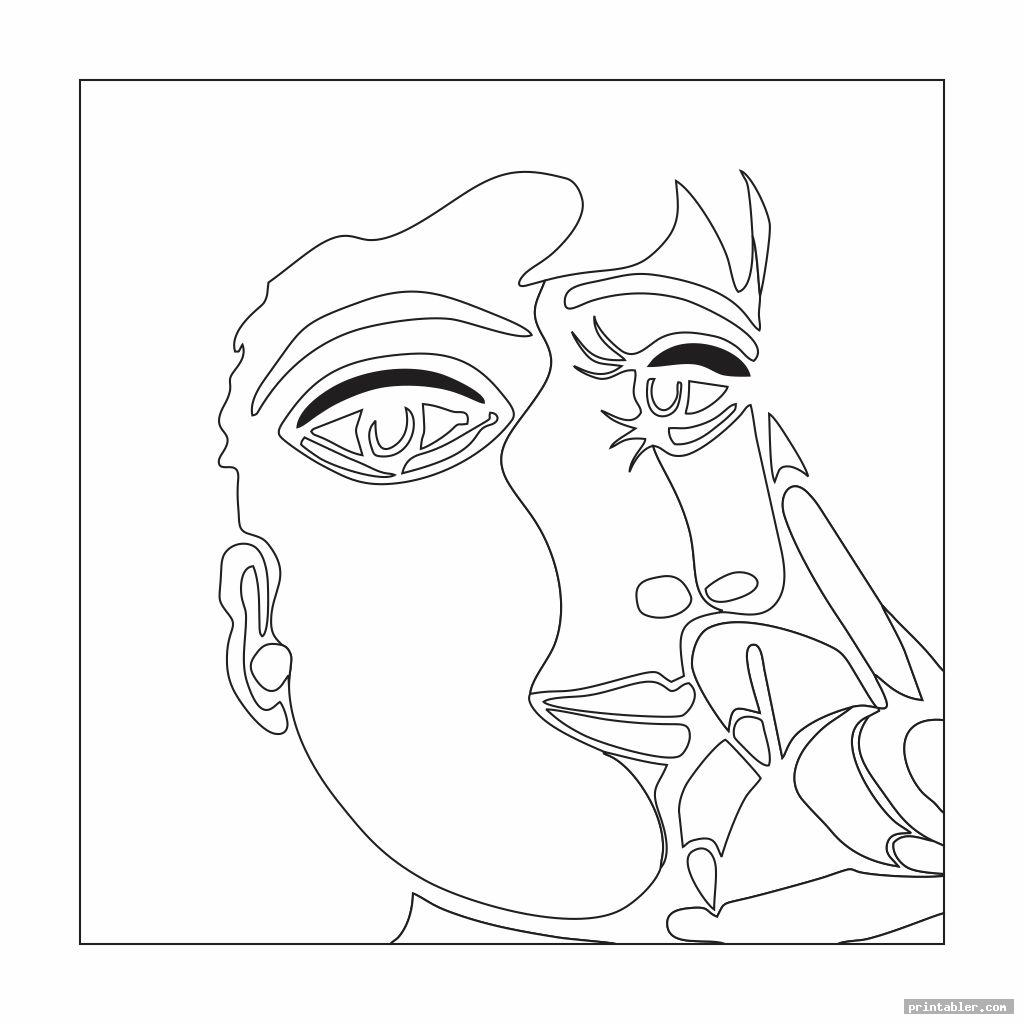 Picasso Art Coloring Pages Printable