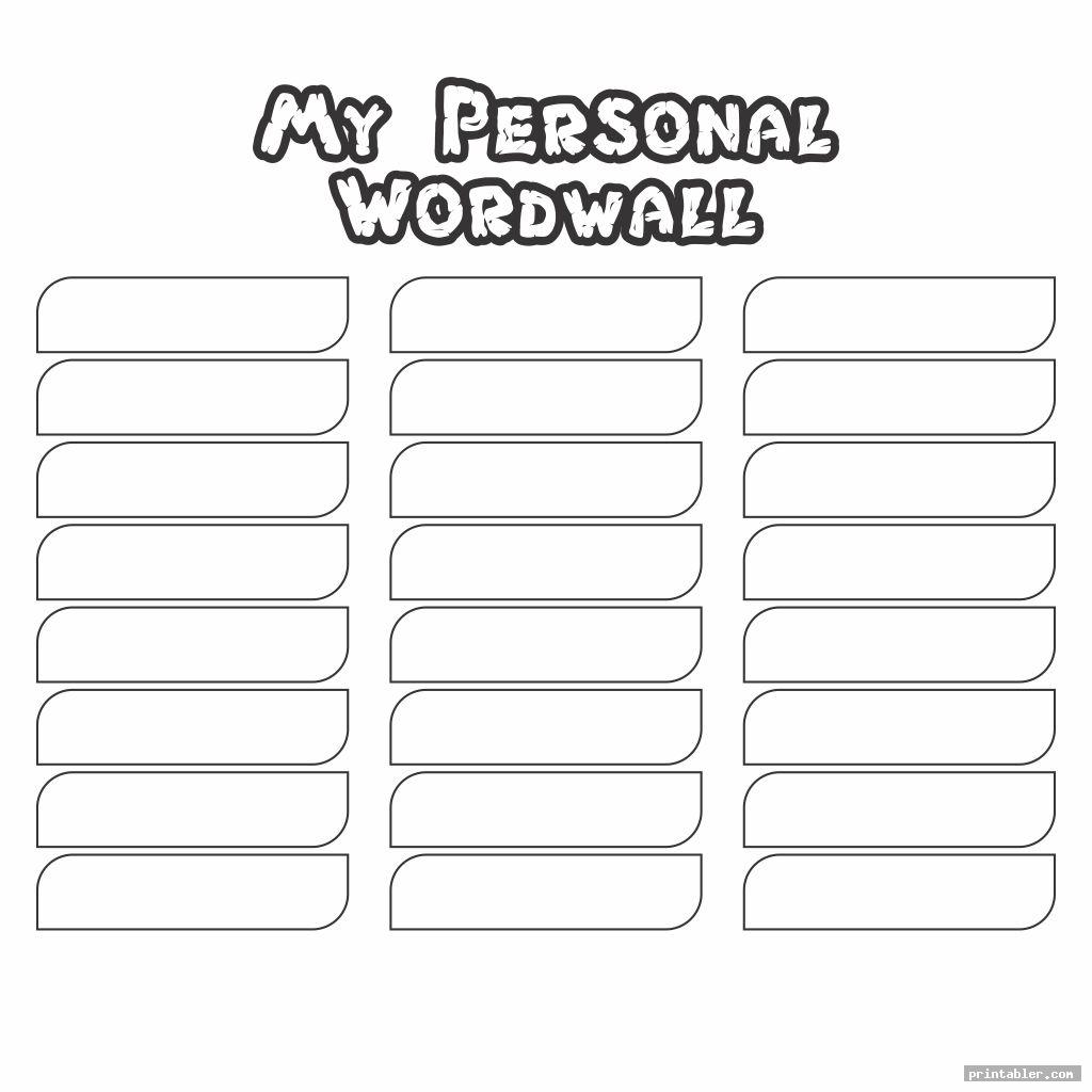 word wall printable template frame for use