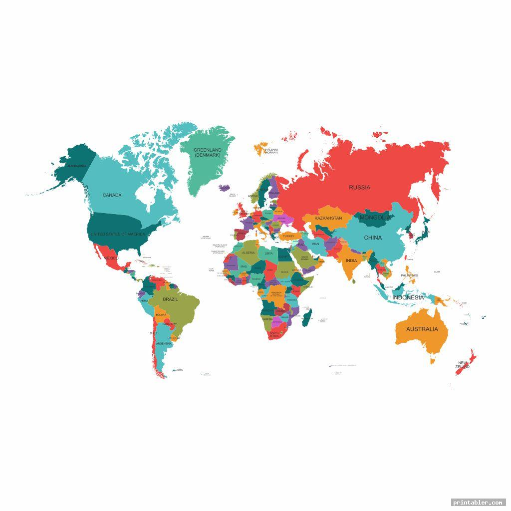 world map full page printable image free