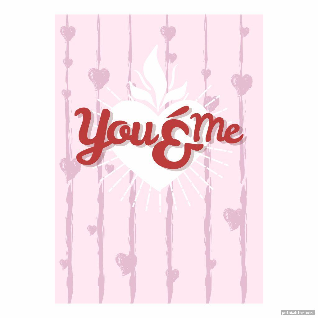 you and me printable church flyers valentine