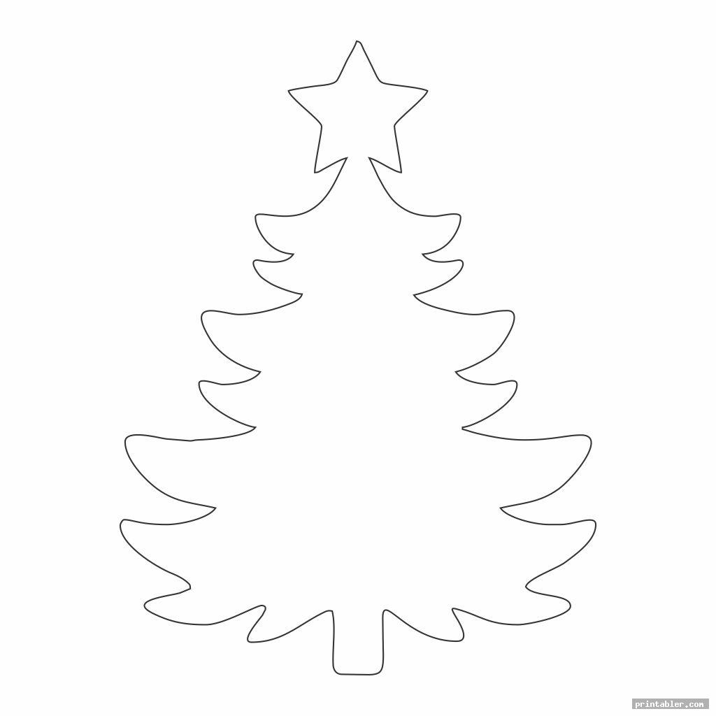 angel tree template printable with star
