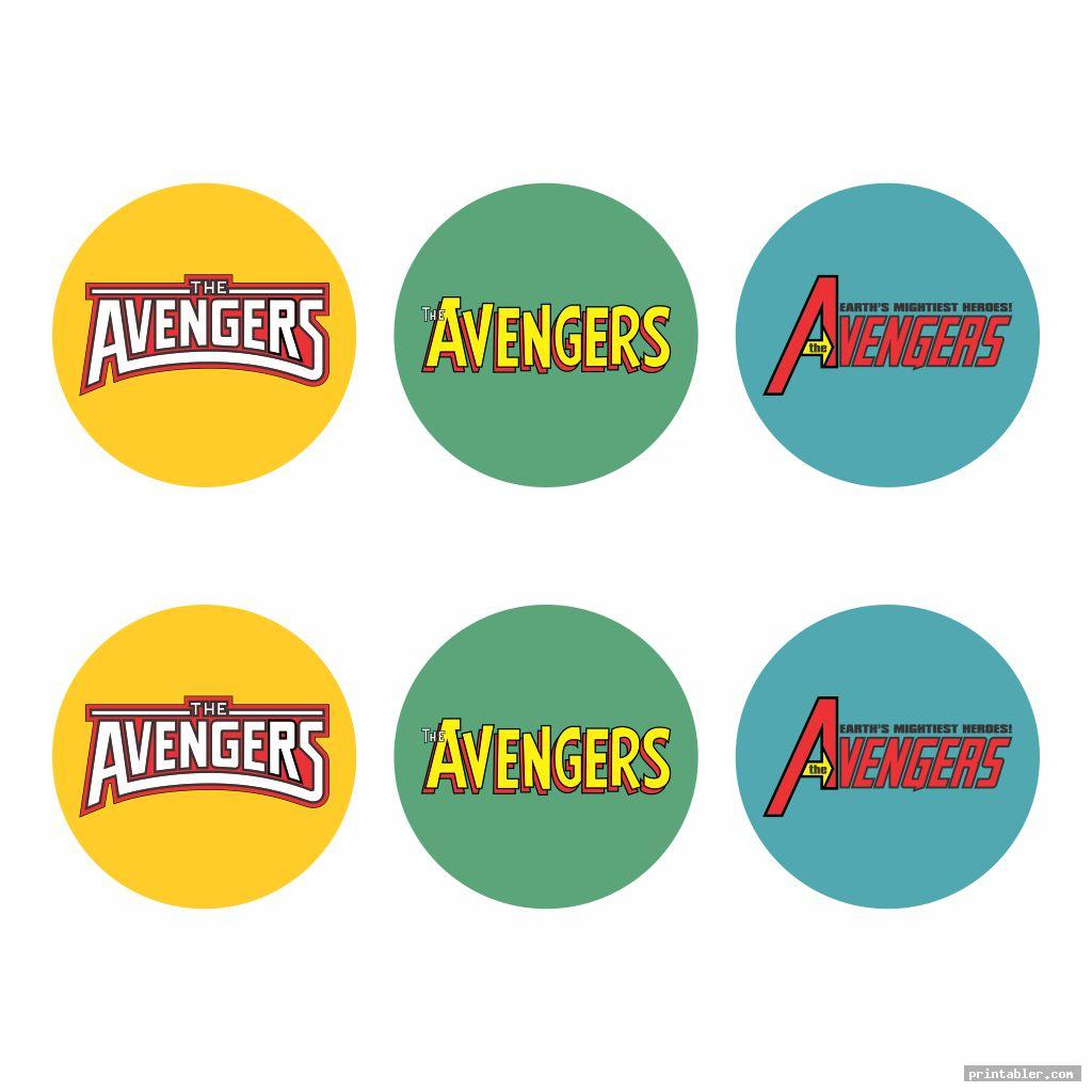 avengers cupcake toppers printable image free