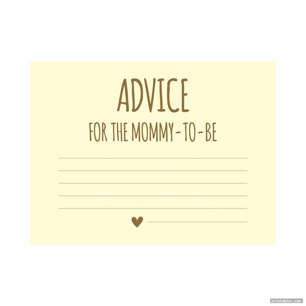 baby advice cards printable image free