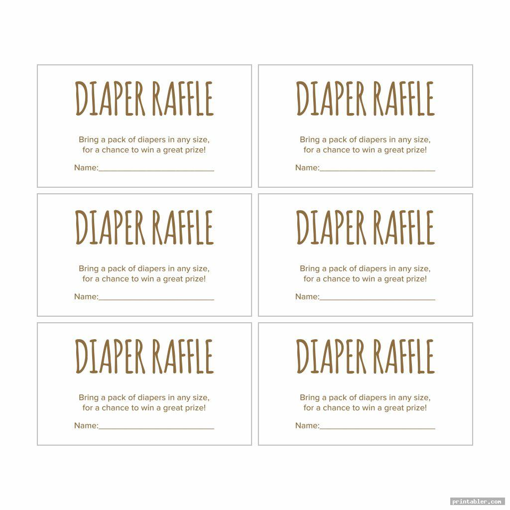 baby shower raffle tickets printable image free