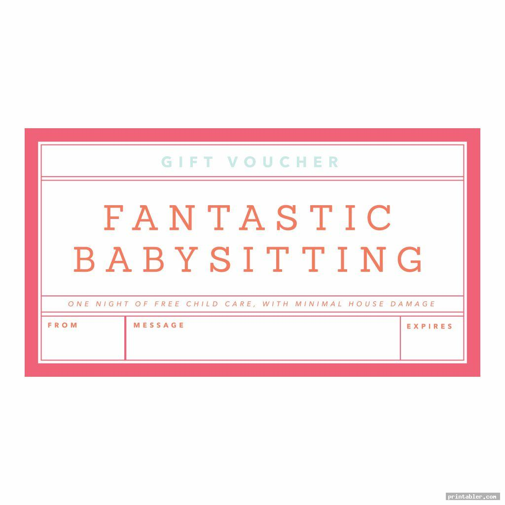 babysitting gift certificate template printable image free