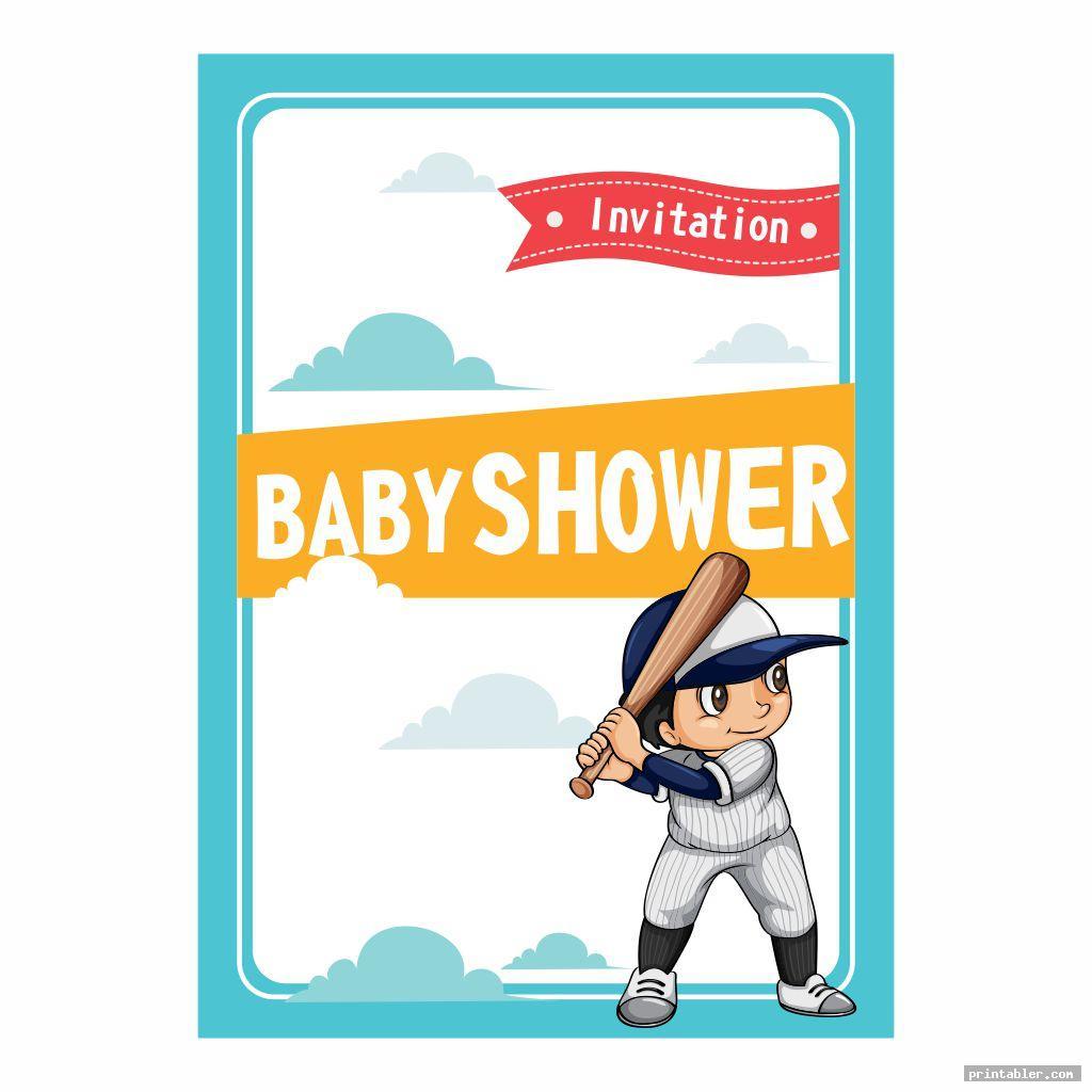 Baseball Baby Shower Printable