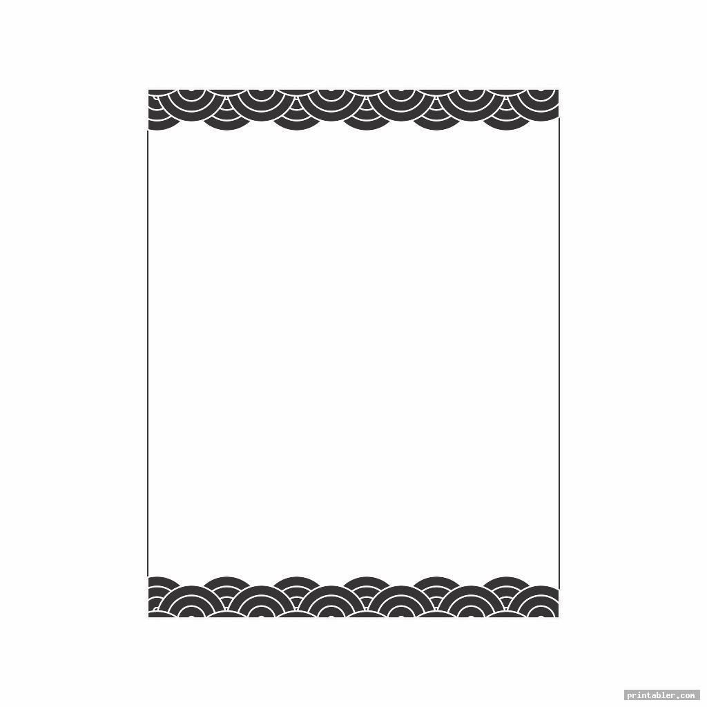 basic black and white stationery printable